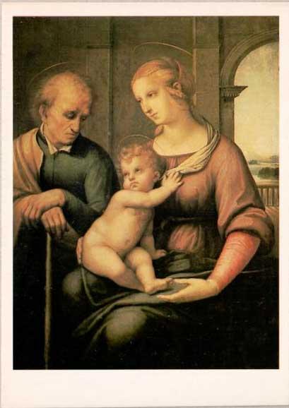 Открытка «Рафаэль. Святое Семейство» Postal card «Holy Family by Raphael»